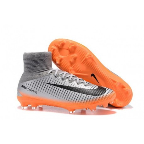 2017 Nike Mercurial Superfly V CR7 FG Chapitre 4 - Cool Grey / Orange / Hematite métallique