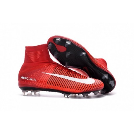 2016 Nike Mercurial Superfly V FG Soccer Cleats Rouge Blanc