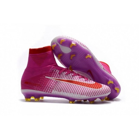 Nike Mercurial Superfly V FG - Blanc / Rose / Rouge