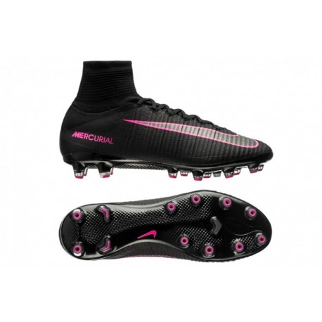 Nike Mercurial Superfly V AG-Pro Soccer Cleats Noir / Rose Blast