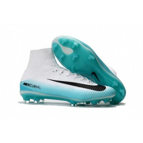 Nike Mercurial Superfly V FG - Blanc / Bleu / Noir