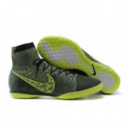 Bottes Nike Elastico Superfly IC Football Midnight Fog Noir Volt Hyper Crimson