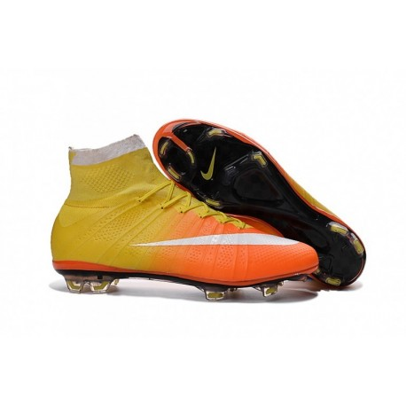 Bottes Nike Mercurial Superfly 2016 Radiant Reveal - Jaune-Orange-Blanc