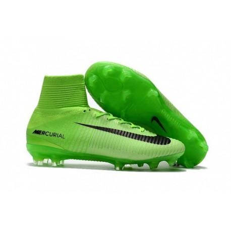 Nike Mercurial Superfly V FG - Vert électrique / Noir / Vert fantôme