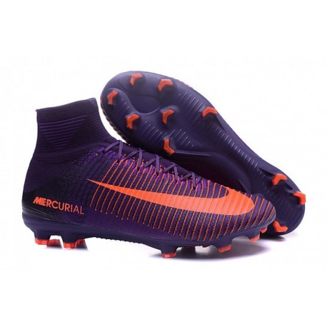 Cheap Nike Mercurial Superfly V FG Soccer Cleats Violet Dynasty / Bright Citrus / Hyper Grape
