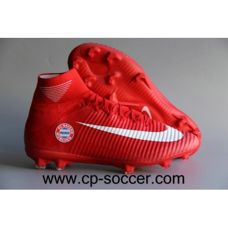 Nike Mercurial Superfly V FC Bayern Munich FG Soccer Cleats Rouge / Blanc