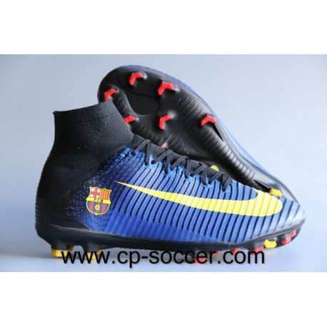 Nike Mercurial Superfly V Barcelona FG Soccer Cleats Bleu / Jaune / Rouge
