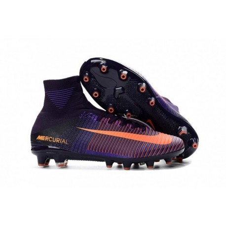 2017 Nike Mercurial Superfly V AG-Pro Violet Dynasty / Bright Citrus / Hyper Grape