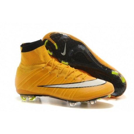 Bottes de football Nike Mercurial Superfly FG Laser Orange Blanc Noir