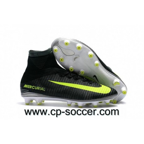 Cheap Nike Mercurial Superfly V CR7 AG-Pro Soccer Cleats Algues / Volt / Hasta / Blanc