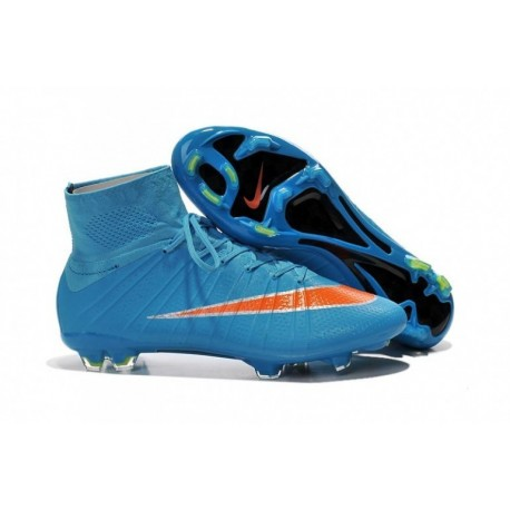 Bottes de football Nike Mercurial Superfly FG Bleu Orange