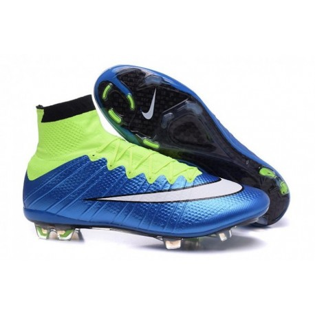 Bottes de football Nike Mercurial Superfly FG Bleu Lagoon Blanc Volt Noir