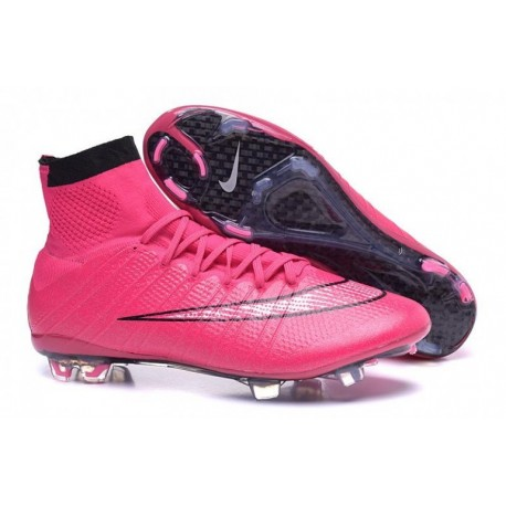 Bottes de football Nike Mercurial Superfly FG Hyper Rose Or Noir