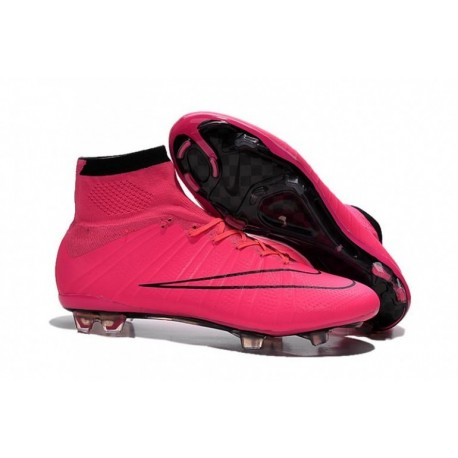 Bottes de football Nike Mercurial Superfly FG Hyper Rose Noir