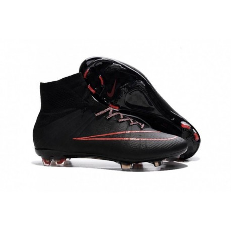 Bottes de football Nike Mercurial Superfly FG Noir Rouge