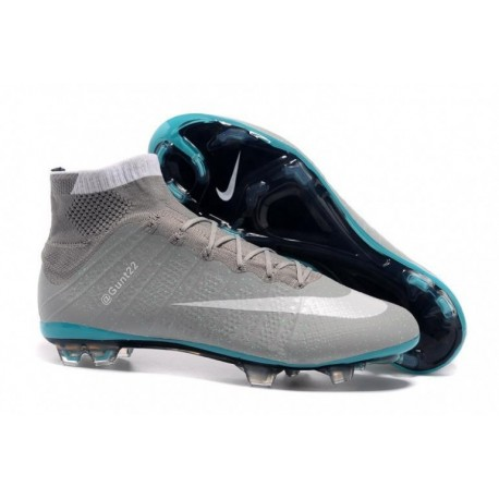 Bottes de football Nike Mercurial Superfly FG Gris Blanc