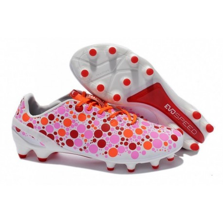 Puma evoSPEED CAMO 1.2 FG Bottes de football Sachet Rose Virtual Rose Hot Coral
