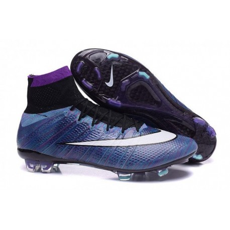 Bottes de football Nike Mercurial Superfly FG Multi Color DK Bleu Blanc