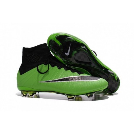 Bottes de football Nike Mercurial Superfly FG Vert Noir