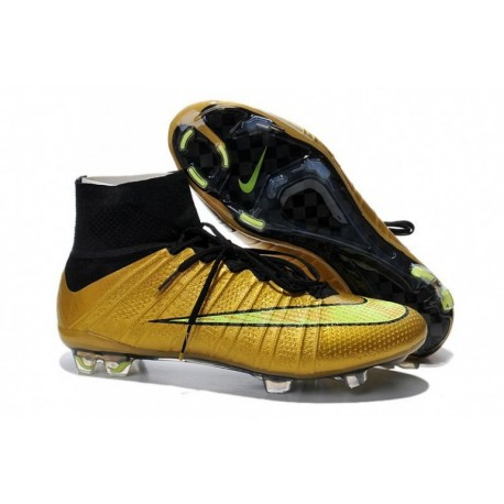 Bottes de football Nike Mercurial Superfly FG Or Noir
