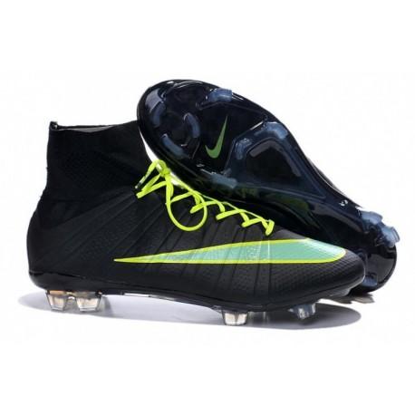 Bottes de football Nike Mercurial Superfly FG Noir Vert