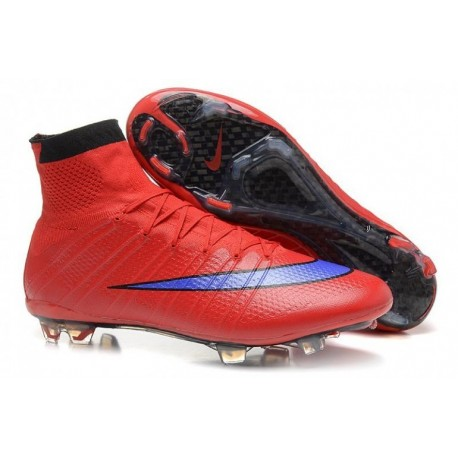 Nike Mercurial Superfly FG Bottes de football Bright Crimson Persian Violet Noir