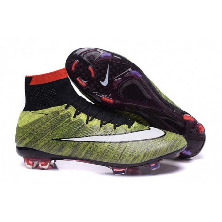 Bottes Nike Mercurial Superfly FG Football Multi Coloris Noir Blanc Rouge