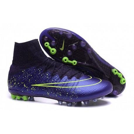 Nike Mercurial Superfly AG R Escadron de bottes de football Bleu Noir Volt