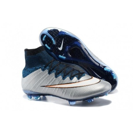 Bottes de football Nike Mercurial Superfly CR7 FG Argenterie