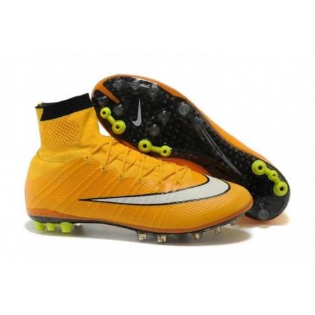 Nike Mercurial Superfly AG Bottes de football Laser Orange Blanc Noir