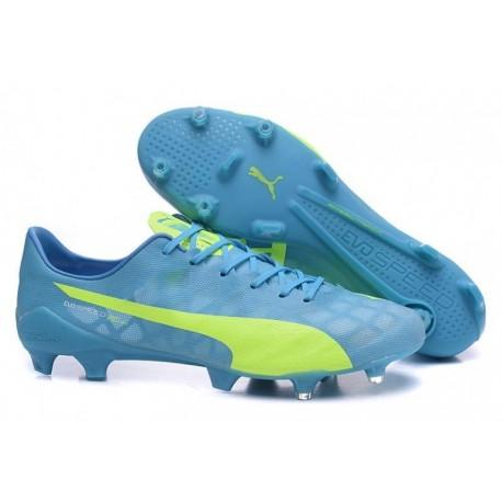Bottes de football Puma evoSPEED SL FG Bleu Jaune
