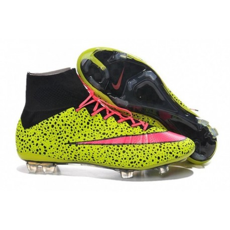 Bottes de football Nike Mercurial Superfly CR7 FG Safari Electricity Rouge