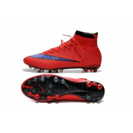 Nike Mercurial Superfly AG Bottes de football Bright Crimson Persian Violet Noir