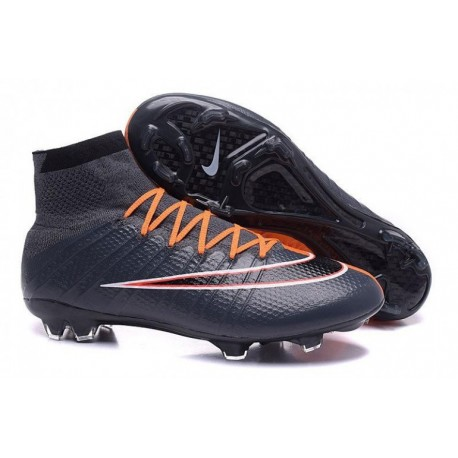 Bottes de football Nike Mercurial Superfly FG Noir Orange