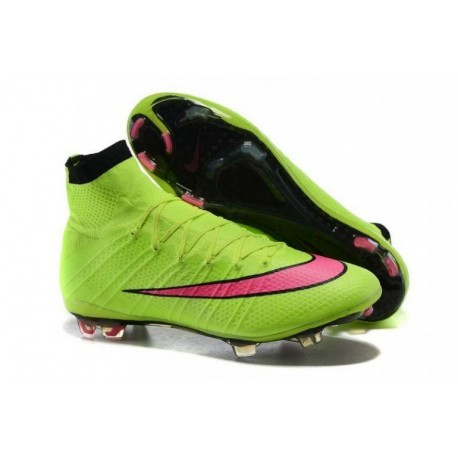 Bottes de football Nike Mercurial Superfly FG Volt Hyper Rose Noir