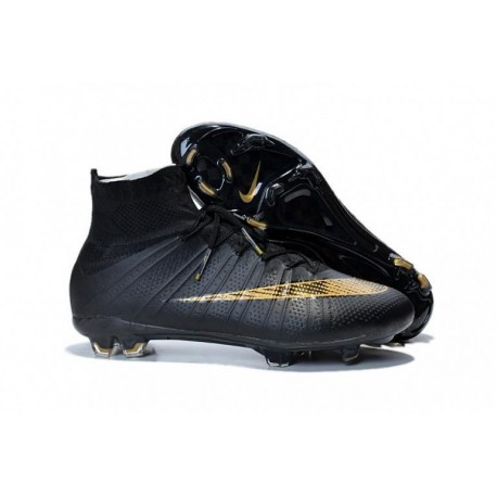 Bottes de football Nike Mercurial Superfly FG Noir Or