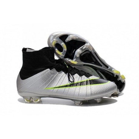 Bottes de football Nike Mercurial Superfly FG argent Noir Volt