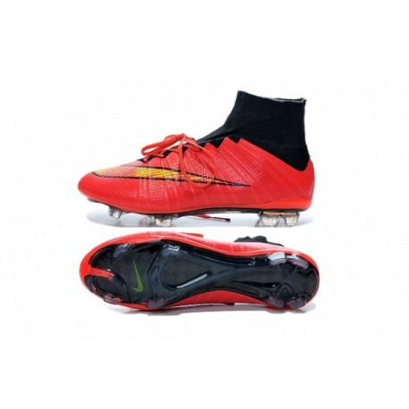 Bottes de football Nike Mercurial Superfly FG Rouge Volt Noir