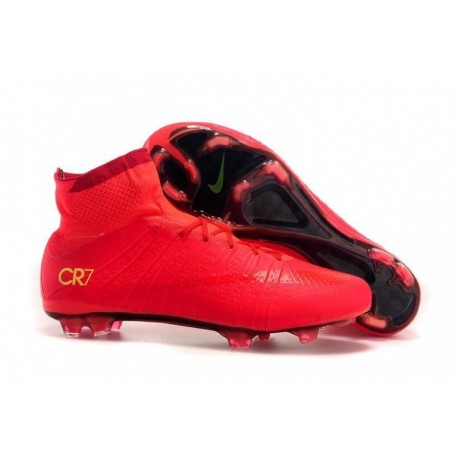 Bottes de football Nike Mercurial Superfly CR7 FG Rouge