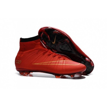 Bottes de football Nike Mercurial Superfly FG Rouge Or