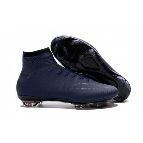 Nouveau 2015 Nike Mercurial Superfly FG DK Bleu