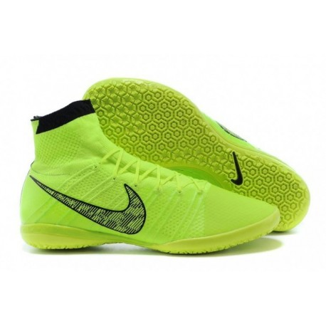 Bottes de football Nike Elastico Superfly IC Volt Blanc Noir Flash Lime