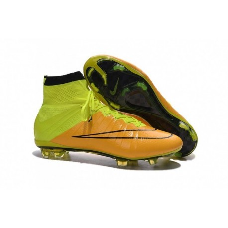 Bottes de football Nike Mercurial Superfly FG Jaune Noir