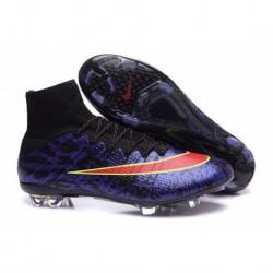 Nike Mercurial Superfly IV FG Bottes de football ID Custom Violet Rouge