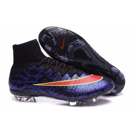 Nike Mercurial Superfly IV FG Bottes de football ID Custom Violet Rouge