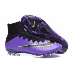 Bottes de football Nike Mercurial Superfly FG Violet Noir