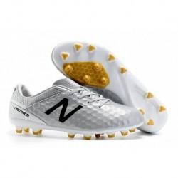 Bottes de football New Balance Visaro Pro FG Argent / Noir / Or