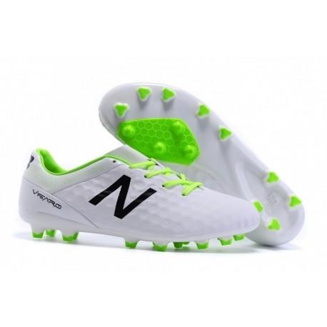 Bottes de football New Balance Visaro Pro FG Blanc / Noir / Vert