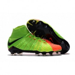 Nike Hypervenom Phantom III DF FG Radiation Flare - Électrique Vert / Noir / Hyper Orange