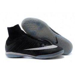 Bottes de football Nike Elastico Superfly IC SE Noir blanc Hyper Turq